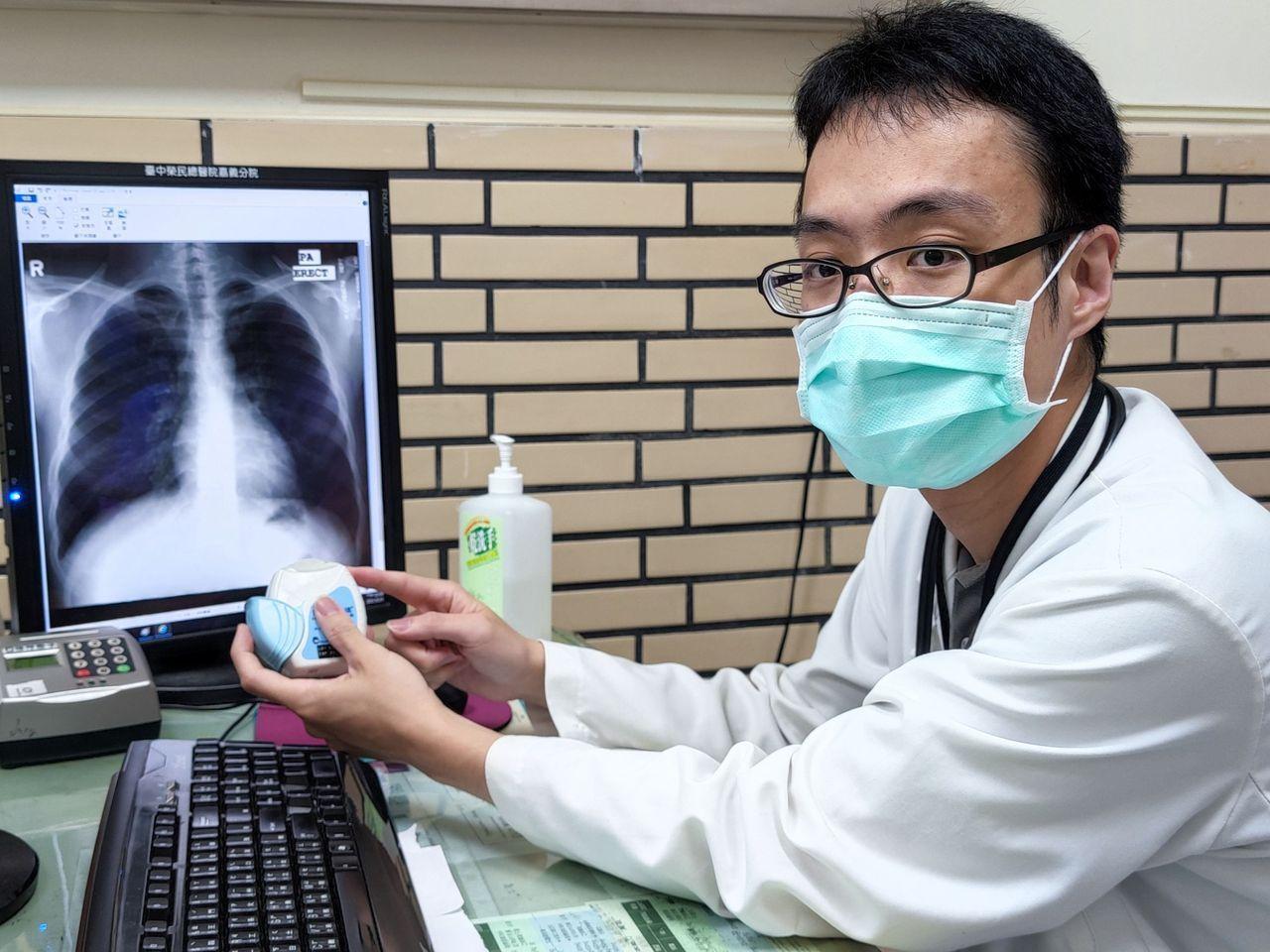 嘉市42歲陳姓女子因疫情不敢回診,停藥近1個月導致急性氣喘發作住院。圖為台中榮總...