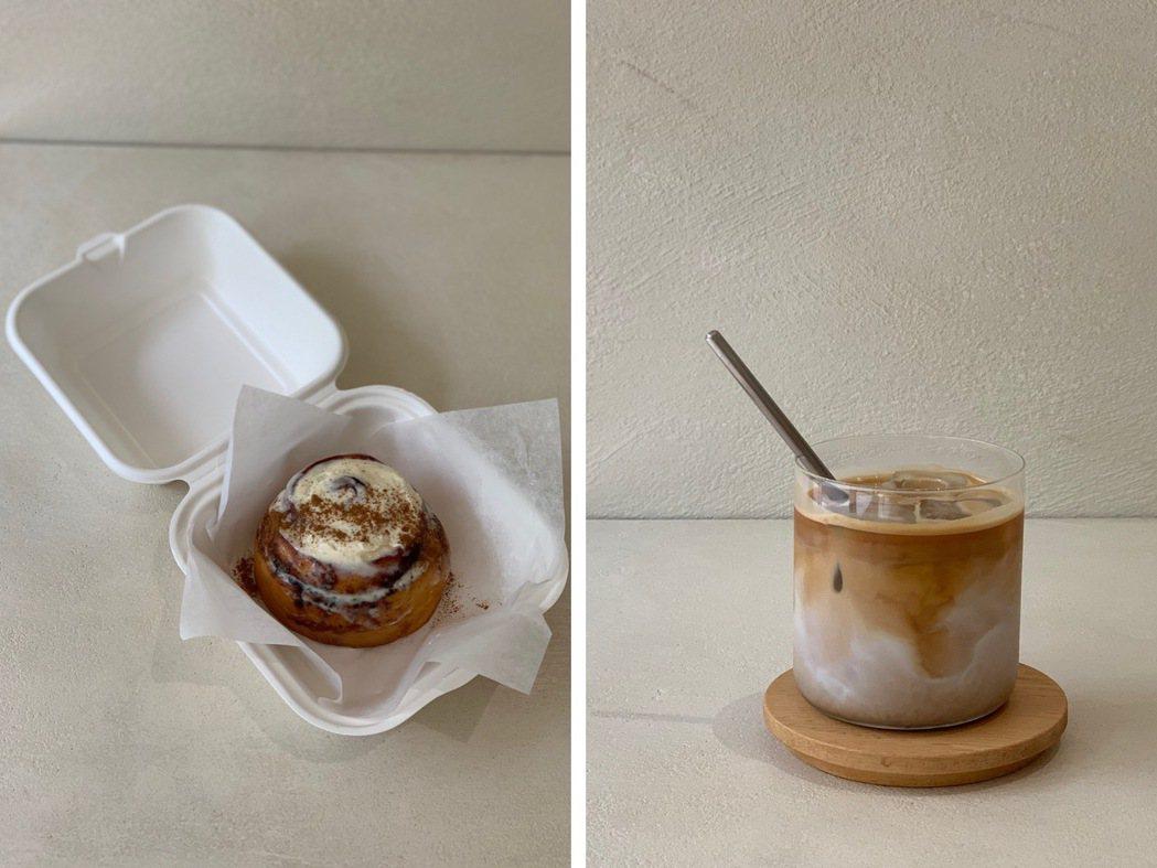 曾悅喬將記憶中澳洲美味的肉桂捲,重現在AROS Coffee。圖/AROS Co...