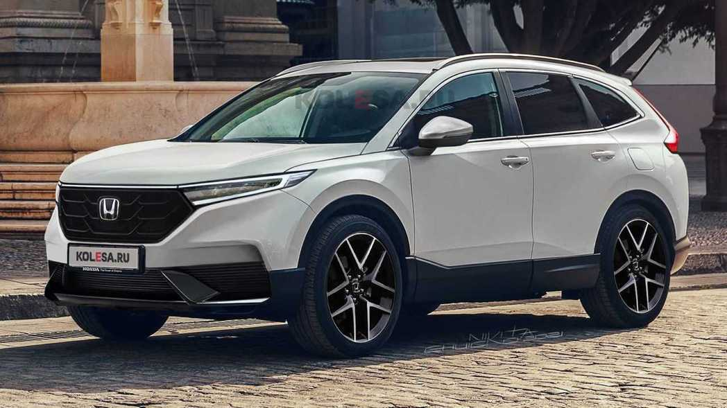 外媒《Kolesa.ru》釋出的CR-V大改款預想圖。 摘自Carscoops....