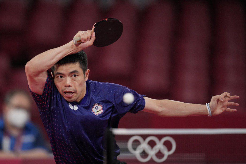 台灣桌球好手莊智淵至今已連續參加五屆奧運。 圖/美聯社