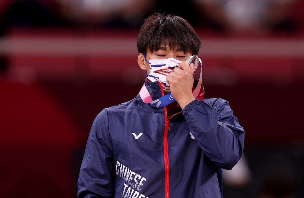 圖為本屆東京奧運在柔道項目奪下銀牌的楊勇緯。 圖/聯合報系資料照片