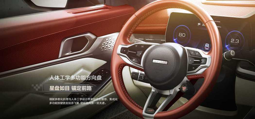 方向盤也採用全新的樣式,所有的操控按鈕包含ACC控制都整合在上頭。 摘自哈弗汽車