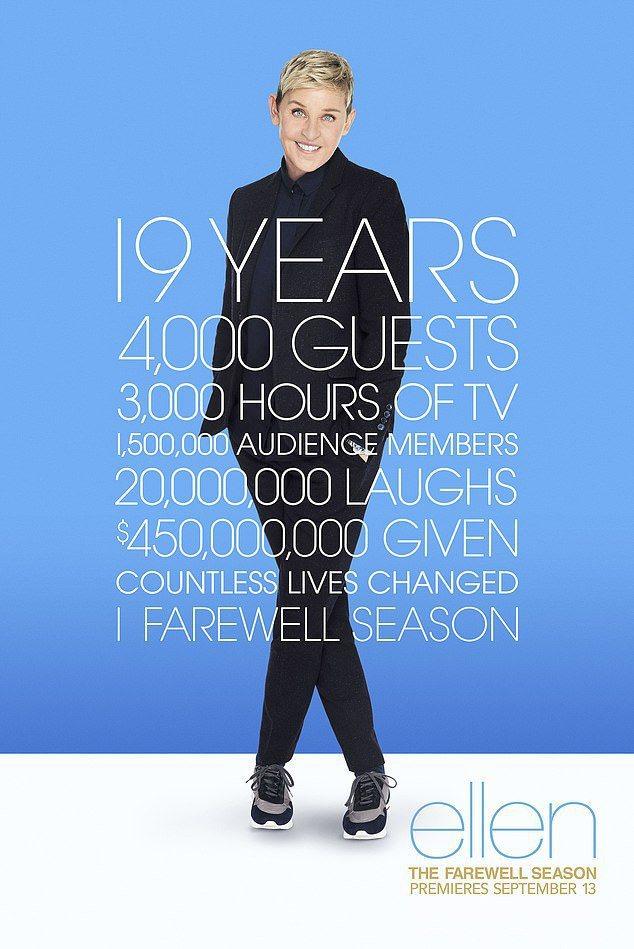 「艾倫秀」最後一季將登場,宣材上列出過往的風光數字。圖/摘自nypost