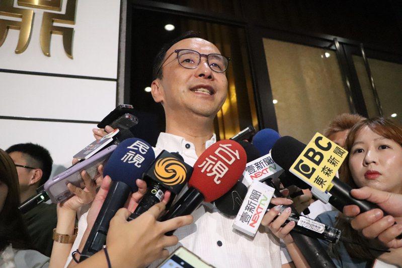 朱立倫宣布參選國民黨主席後,多次談到2024總統大選,表示若他當選主席會無私提名、提名最強將,目前最強的是新北市長侯友宜。圖/聯合報系資料照片
