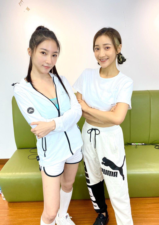 張家瑋(左)、夏宇禾會相約一起去運動。圖/民視提供