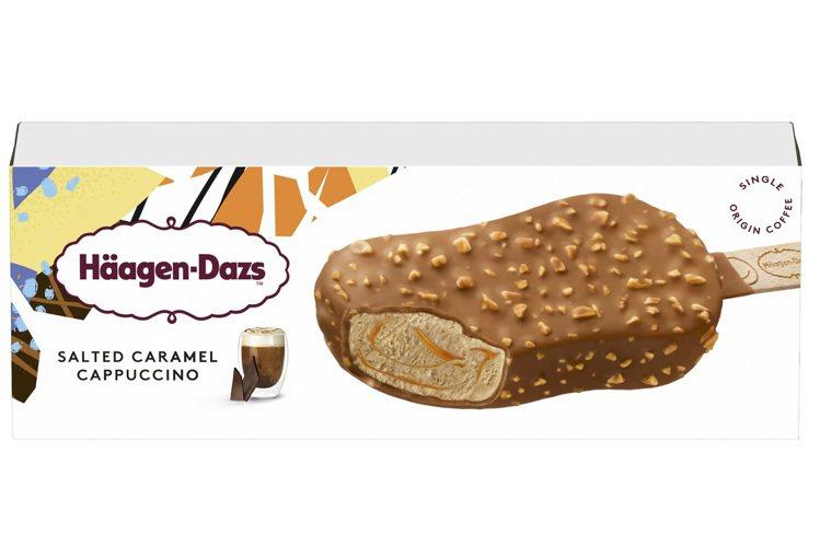 「哈根達斯岩鹽焦糖卡布雪糕」,售價115元,全家便利商店8月11日至8月24日可...