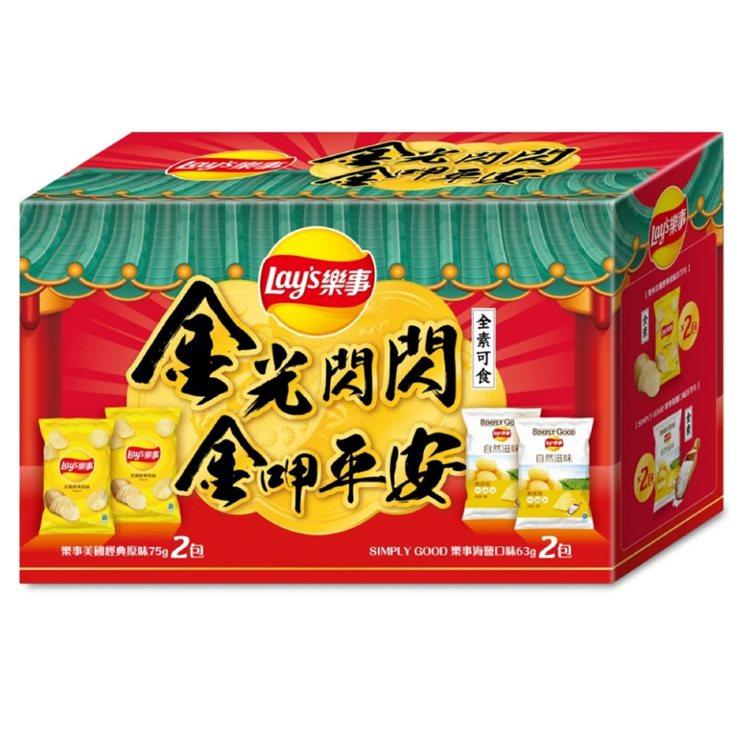 Lay's 樂事金光閃閃洋芋片組合箱,Yahoo奇摩購物中心8月22日前特價14...