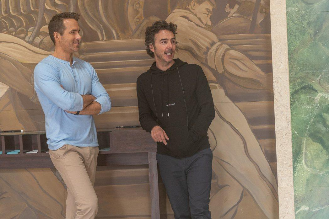 薛恩李維(右)與萊恩雷諾斯是多年好友,也是加拿大同鄉,這次合作電影「脫稿玩家」火