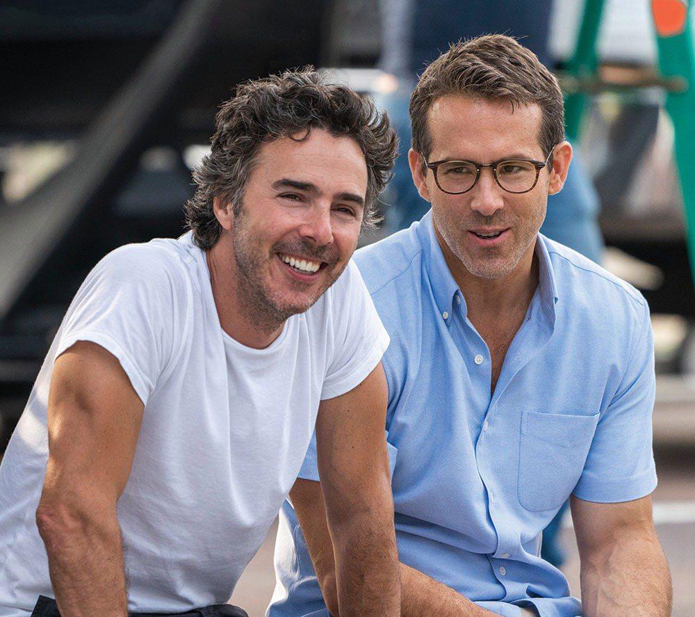 薛恩李維(左)與萊恩雷諾斯是多年好友,也是加拿大同鄉,這次合作電影「脫稿玩家」火...