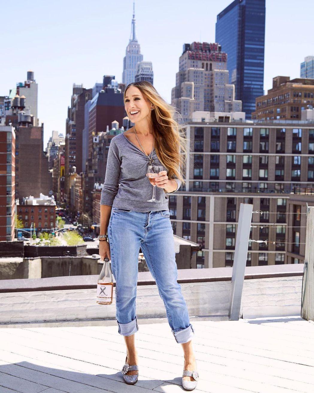 莎拉潔西卡派克近日都在紐約拍攝「慾望城市」的續篇影集。圖/摘自IG