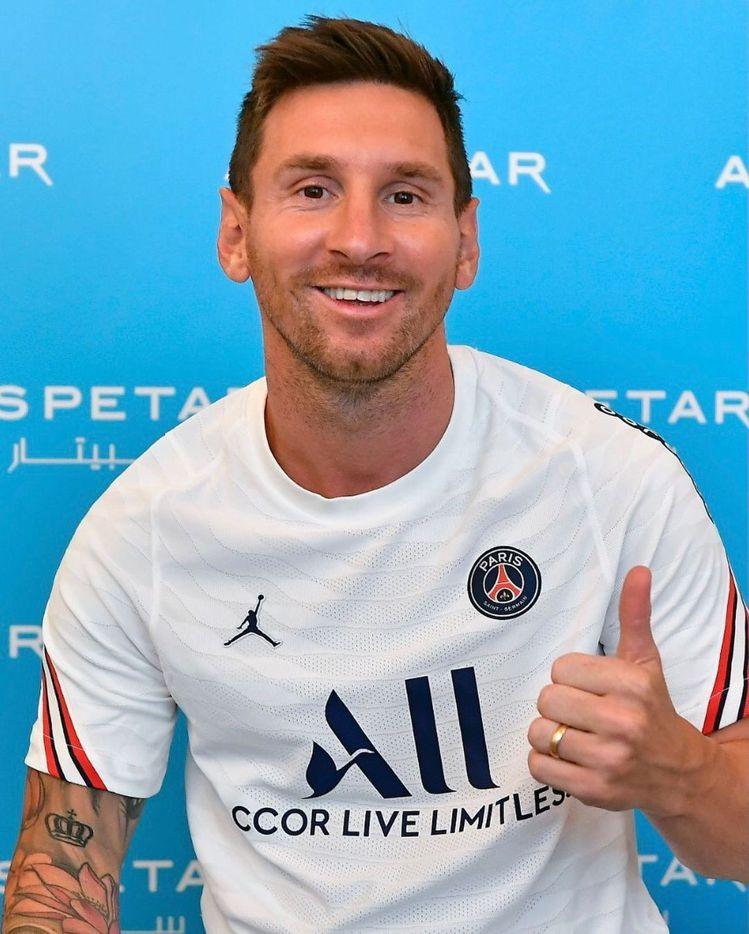 阿根廷足球名將梅西加盟擁有內馬爾、姆巴佩等著名球星的巴黎聖日耳曼隊。圖/摘自巴黎...