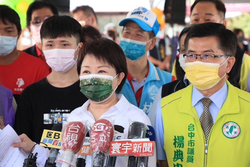 台中市長盧秀燕今天說,恭喜台中市獲選米其淋必比登推薦的店家。記者游振昇/攝影