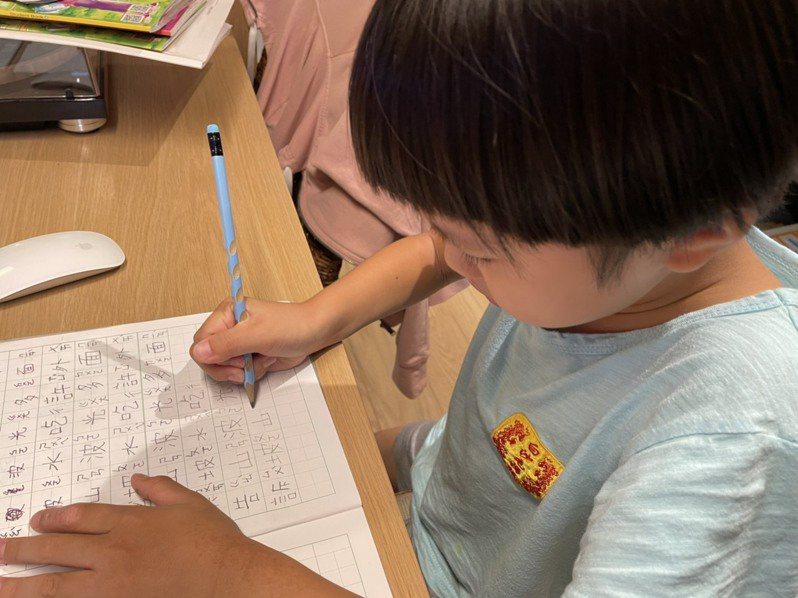 小一升小二的家長憂慮,國語基礎沒學好,影響數學理解能力,孩子練習生字,有些忘光了,有些筆順錯了,不見得每一位家長都有時間陪伴學習。記者喻文玟/攝影