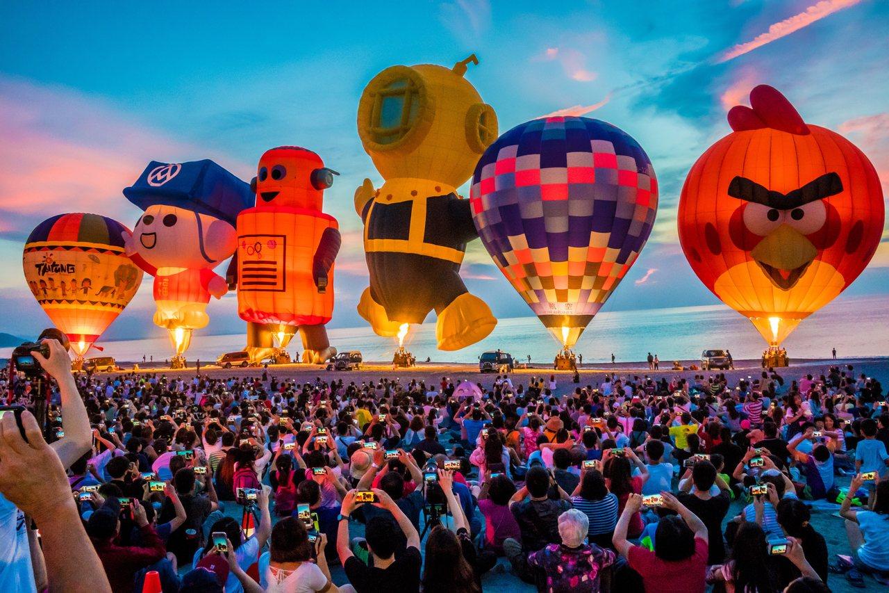 圖為2019年台東熱氣球嘉年華 圖/台東縣政府提供