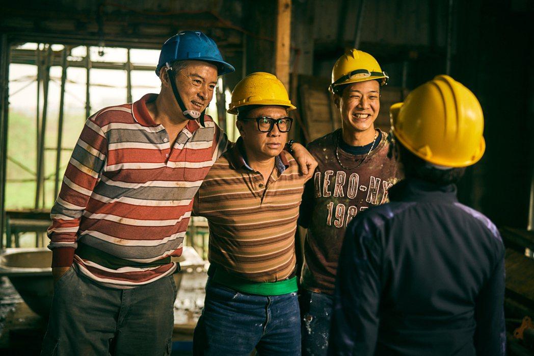 李銘順(左起)、游安順、薛仕凌在「做工的人」中如台版「三個傻瓜」大做發財白日夢。