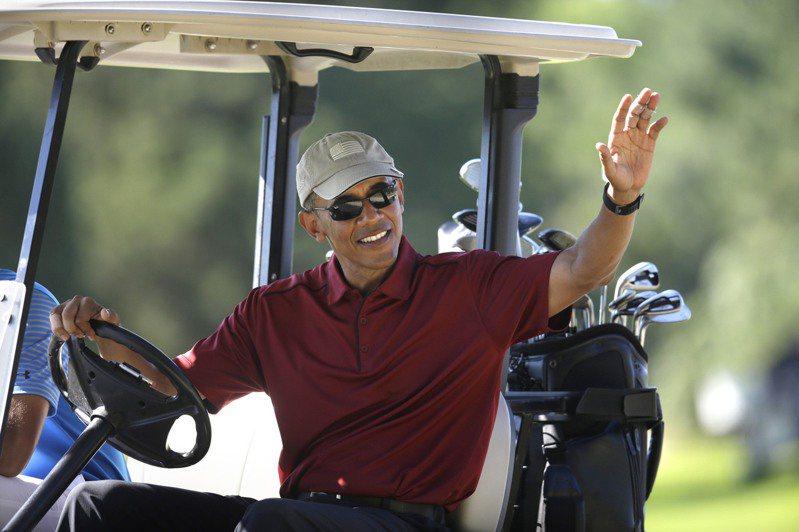 美國前總統歐巴馬喜歡到瑪莎葡萄園島打高球度假。美聯社