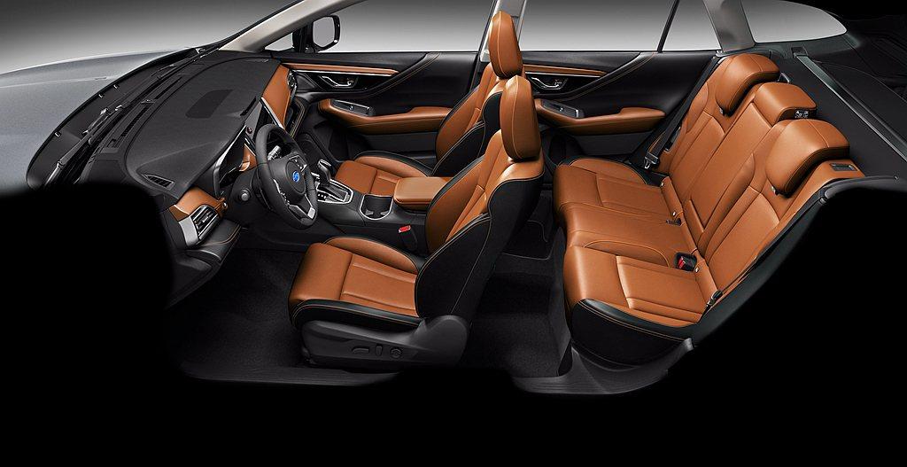 台灣意美汽車限量推出Subaru Outback Nappa頂級雙色座椅內裝,黑...