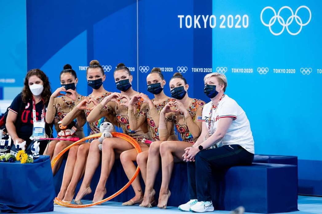 圖為參加2020東京奧運的美國國家體操代表隊員。 圖/USA Gymnastics Facebook