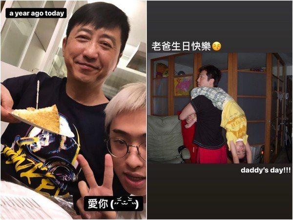 上個月底庾澄慶60歲生日,小哈利更曝光父子合照。圖/擷自小哈利IG