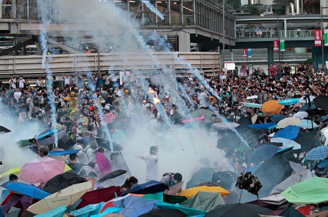 2014年香港雨傘運動。 圖/美聯社
