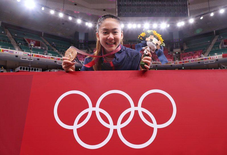 我國空手道女將文姿云在東京奧運女子55公斤級4強賽遭判定落敗,但仍為中華代表團再進帳一面銅牌。特派記者余承翰/東京攝影