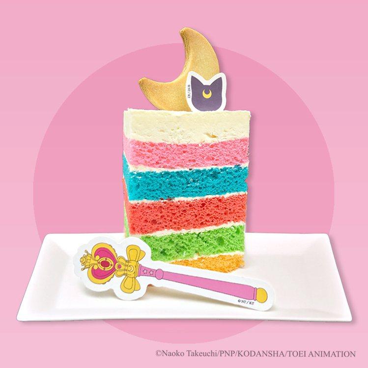 彩虹蛋糕180元乙個。圖/美少女戰士Crystal期間限定店提供。