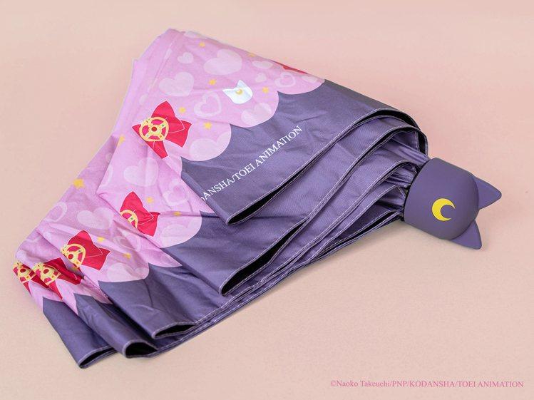 露娜造型雨傘990元。圖/美少女戰士Crystal期間限定店提供。