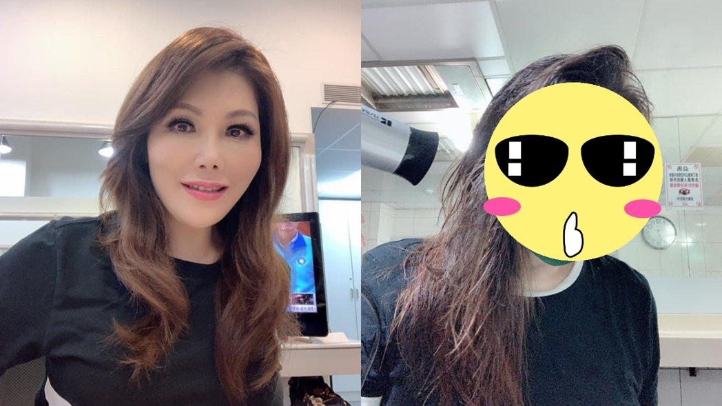 張雅琴素顏與上妝後有差別。 圖/擷自張雅琴臉書