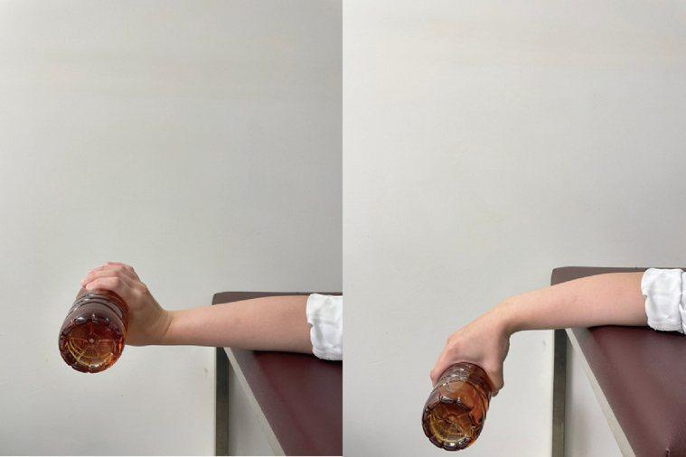 (圖12.伸肌訓練。動作示範/丁雅婷物理治療師 圖片來源/蔡育霖醫師提供) 圖/...
