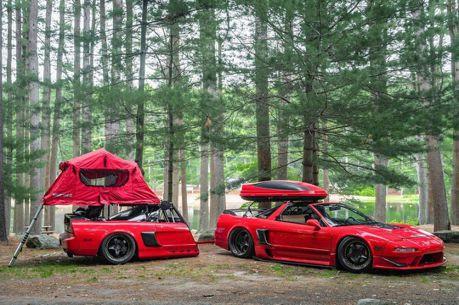 用Acura NSX掛著同為NSX的拖車去露營 只有帥而已!