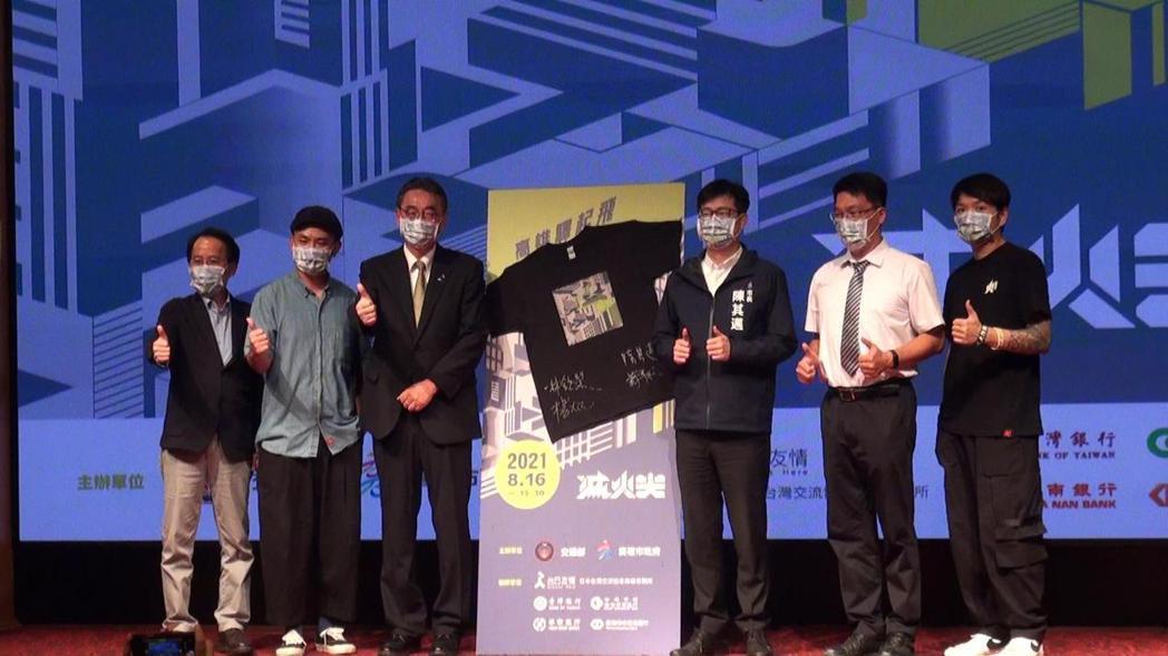 高雄市政府邀請滅火器樂團創作「高雄驛起飛」新曲,MV今午首播。記者王昭月/攝影