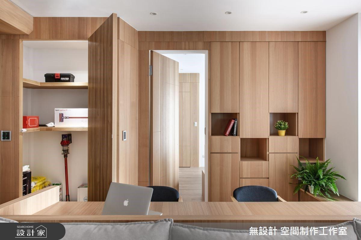 收納為室內裝修的重點項目,許多人對雜亂的生活用品頭痛不已。 圖/無設計 空間制作...