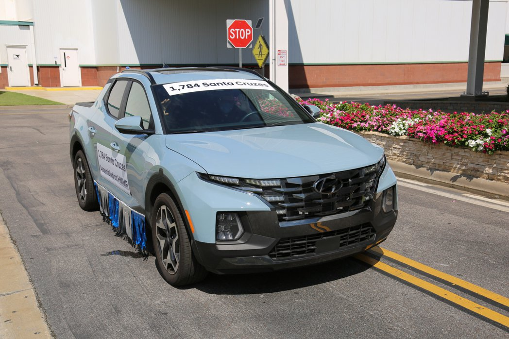 Hyundai Santa Cruz是品牌在美國阿拉巴馬廠區生展的第500萬輛新...