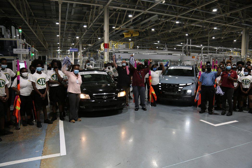Hyundai日前在美國阿拉巴馬廠區達成第500萬輛現代汽車生產里程碑。 摘自H...