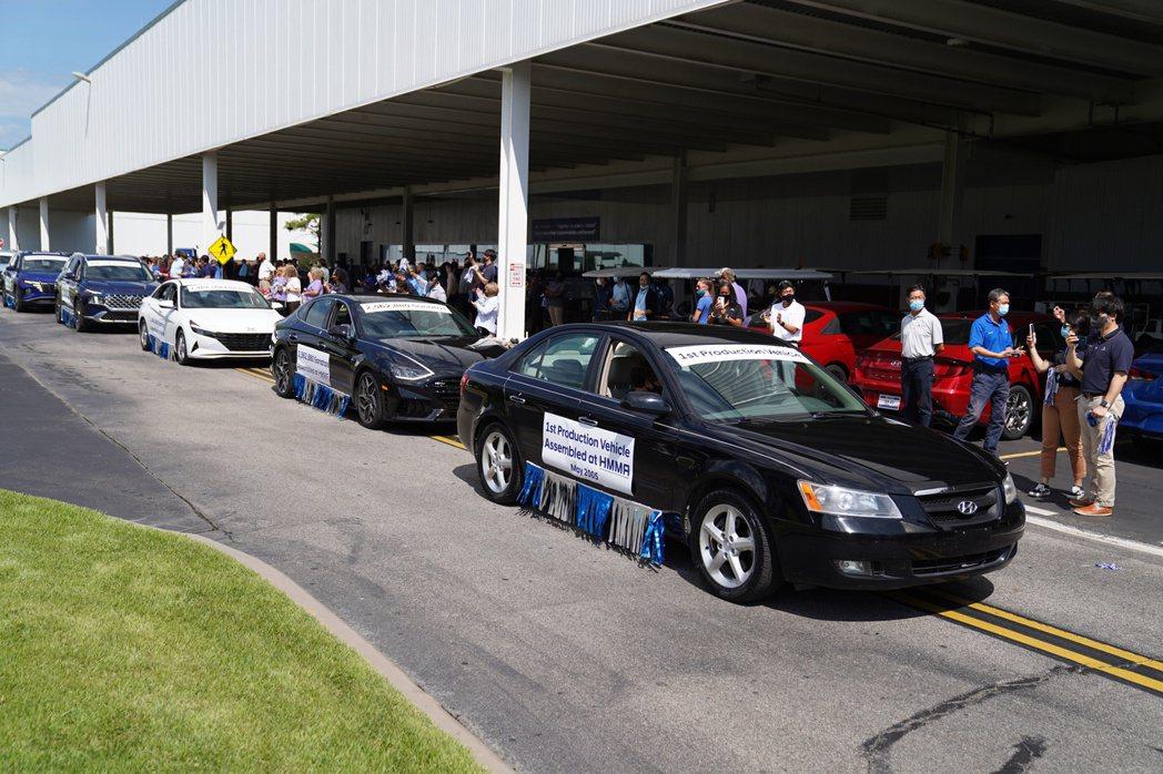Hyundai在2005年5月20日正式啟用的阿拉巴馬工廠,其第一部美製現代汽車...