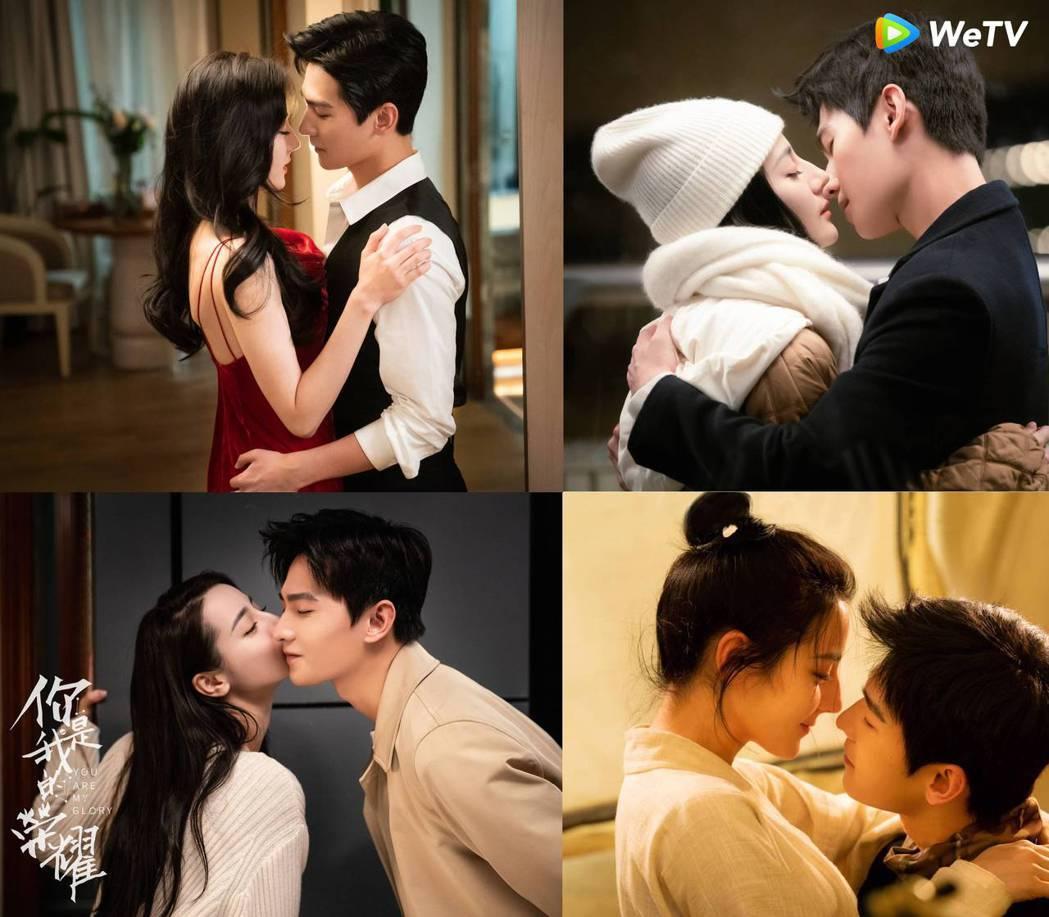 「你是我的榮耀」各種甜蜜吻戲出爐。圖/WeTV提供