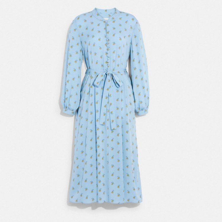 印花洋裝,28,800元。圖/COACH提供