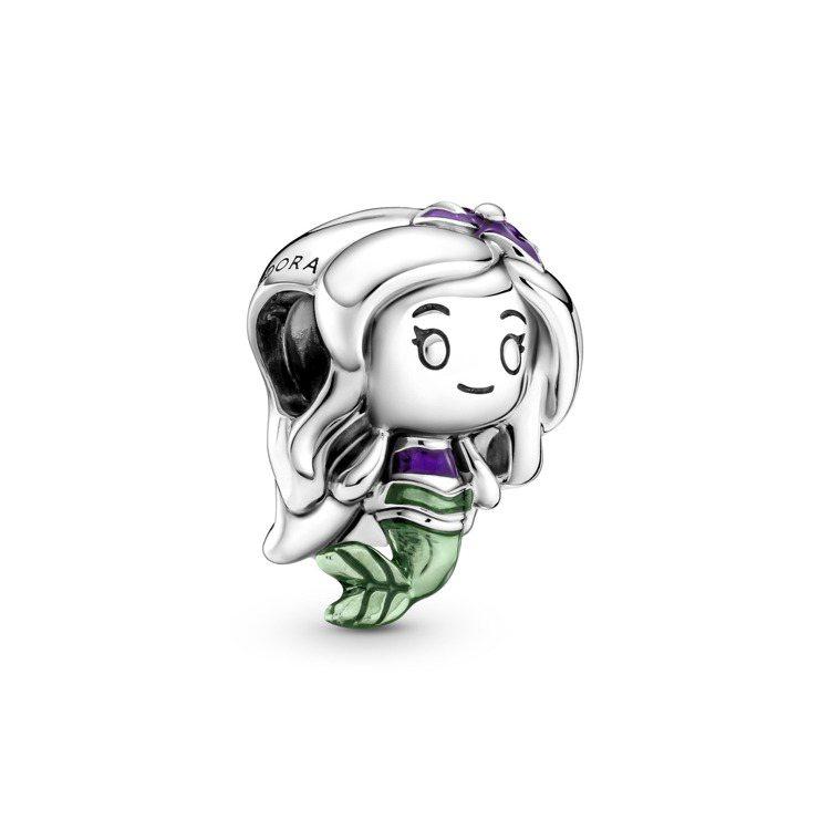 Disney x Pandora「小美人魚」愛麗兒925銀串飾,2,080元。圖...