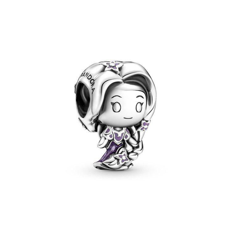 Disney x Pandora「魔髮奇緣」樂佩925銀串飾,2,080元。圖/...