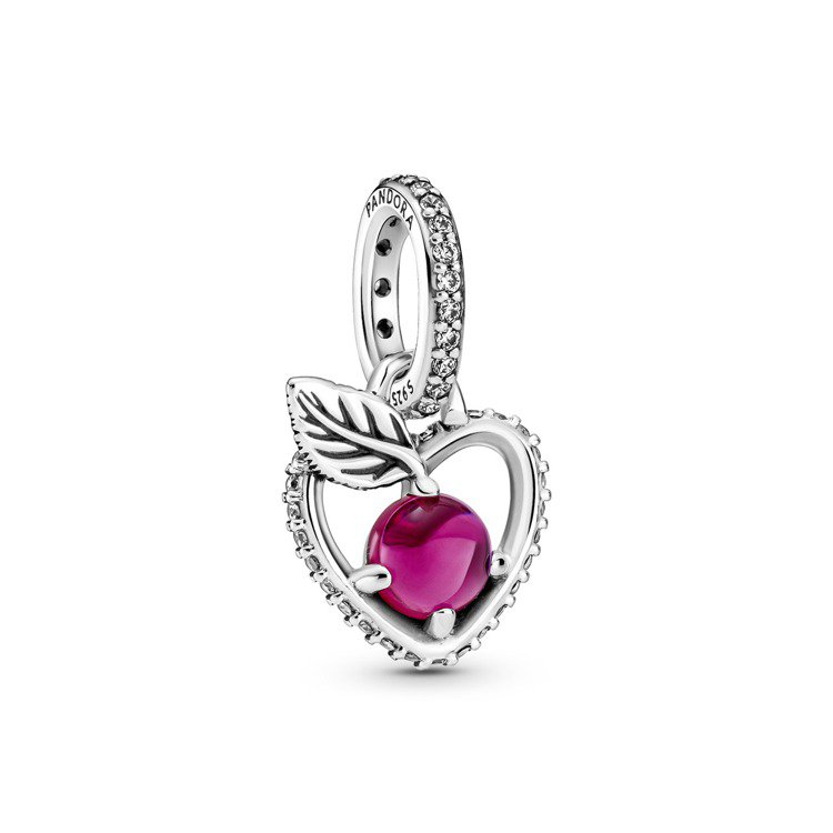 Disney x Pandora「白雪公主」紅蘋果925銀鋯石吊飾,2,480元...