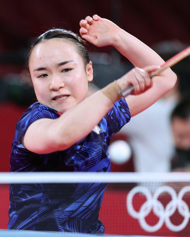 日本隊桌球好手伊藤美誠。  新華社