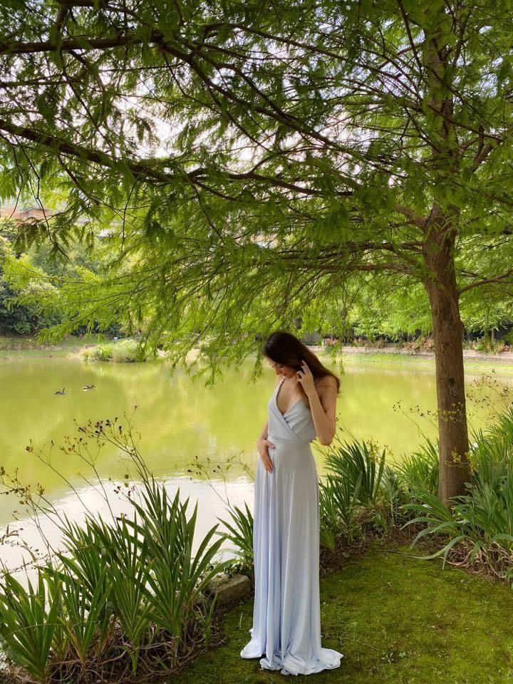瑞莎懷二胎。圖/擷自臉書