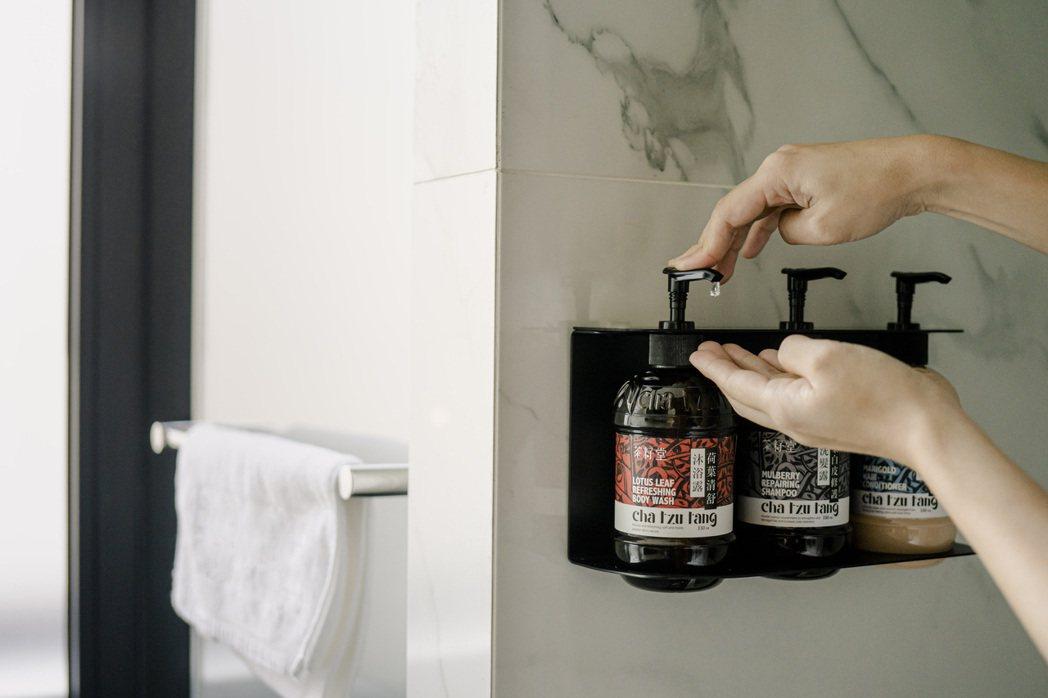 與飯店合作洗沐備品,也是「茶籽堂」被看見的重要契機之一。照片提供/茶籽堂、趙文豪