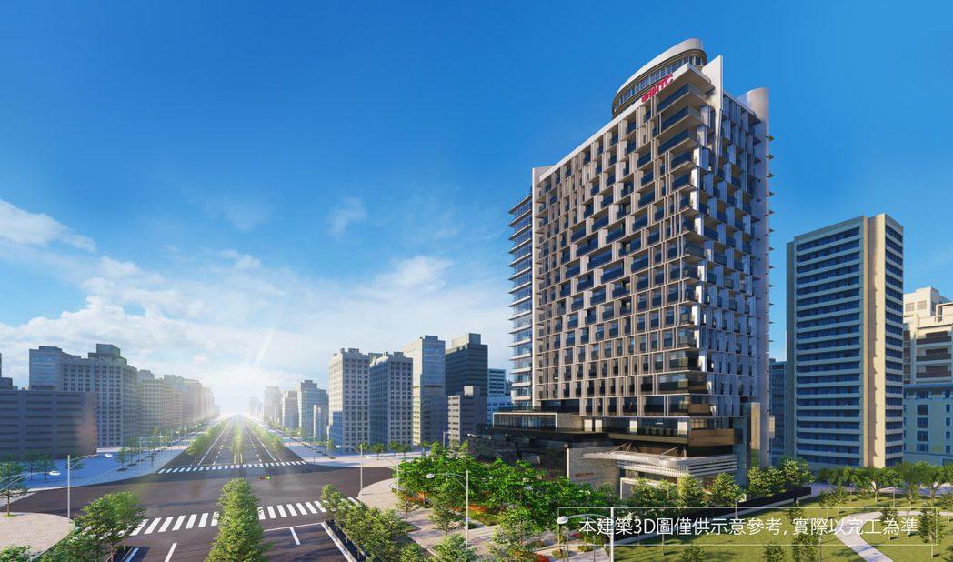 「中悦ITC國際商貿中心」3D模擬外觀。(圖/業者提供)
