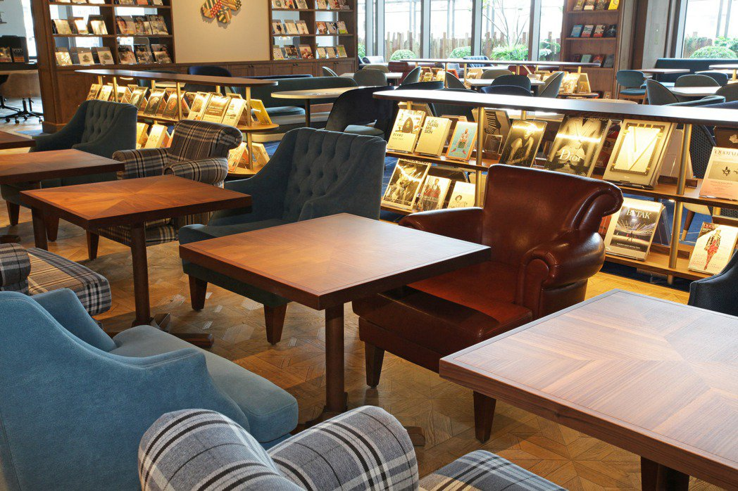 「SHARE LOUNGE」的空間設計、家具使用由日本蔦屋書店一手操刀。圖/TS...