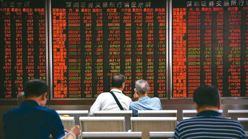 大陸股市示意圖。(本報系資料庫)