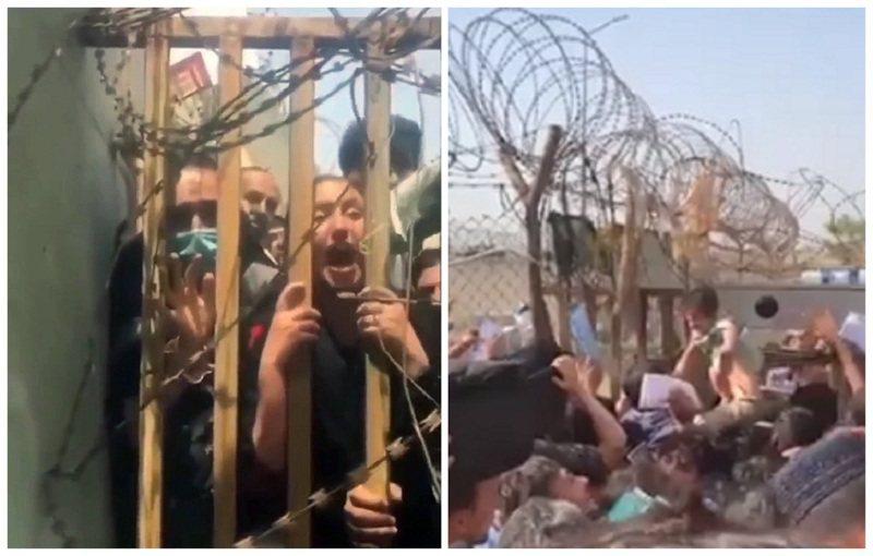 阿富汗的神學士組織進軍首都喀布爾後,眾多平民百姓冒險攜家帶眷前往機場,希望搭上飛機離開國門,英軍官兵親眼目擊母親將嬰孩拋過鐵絲網,希望他們可以救小孩們逃出生天。畫面翻攝:The Sun