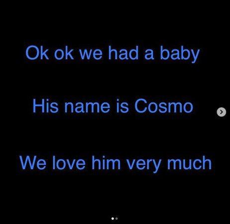 柯林佑斯特證實兒子出生。圖/摘自IG