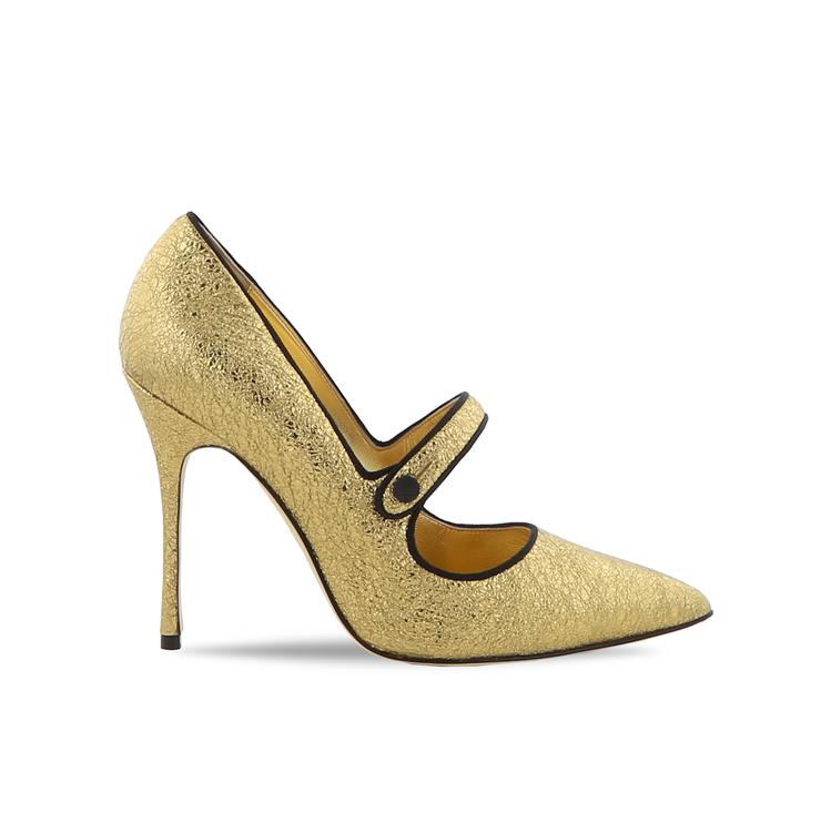 黃金膠囊系列Parinew瑪莉珍鞋。圖/Manolo Blahnik提供