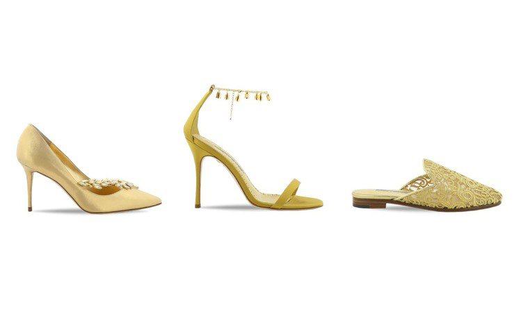 Manolo Blahnik迎接創立50周年,特別打造出一個黃金膠囊系列,所有鞋...